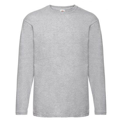 tshirt manica lunga grigio melange chiaro