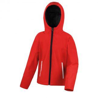 giubbino rosso bambino softshell