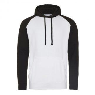 felpa bianco nero bicolore personalizzabile