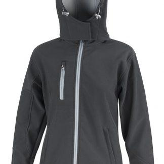 giacca softshell nera donna logo