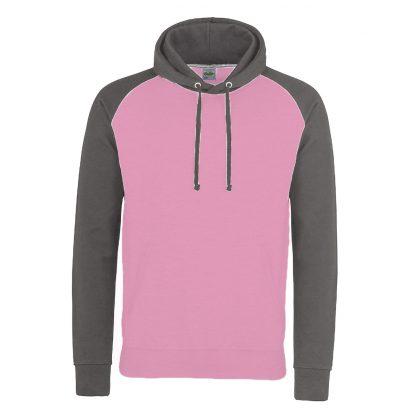 felpa rosa grigio bicolore personalizzabile