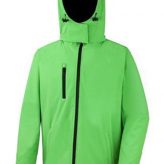 softshell giacca verde