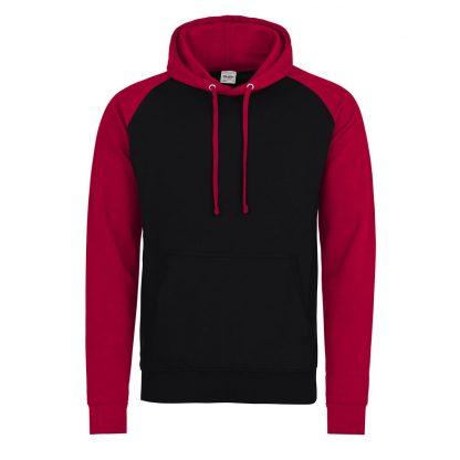 felpa rosso nero bicolore