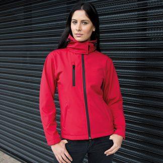 giacca giubbino softshell rosso